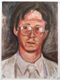 Self Portrait at 25 (Acrylic on paper - 1995)