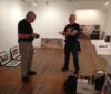 Hanging the show at Gallery 414